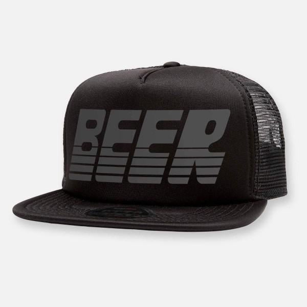 "Trucker Cap ""Beer"" Black on Black"