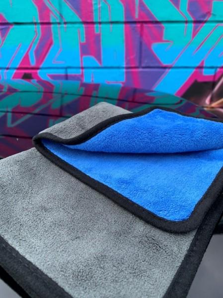 Microfasertuch, Blau / Grau, 40x40cm, 650GSM