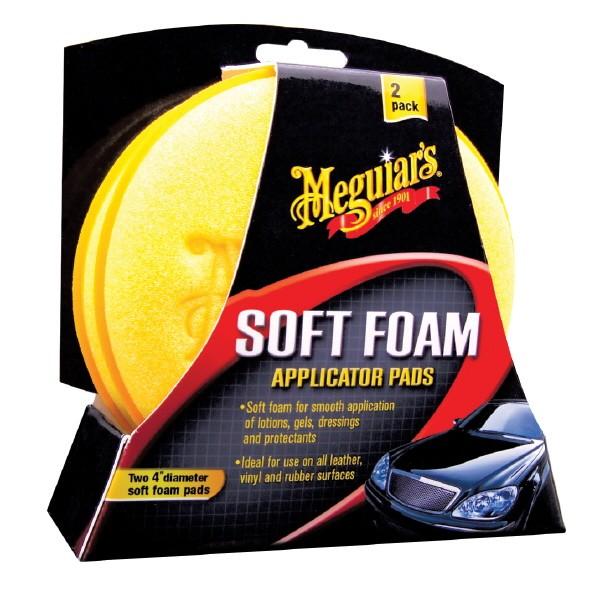 Meguiars Soft Foam Applicator Pads, Schaumstoff-Pad, 2er Set
