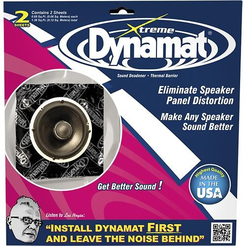 Xtreme Speaker Kit, Dämmung, Alu-Butyl, selbstklebend, 10″ x 10″, 2 Platten